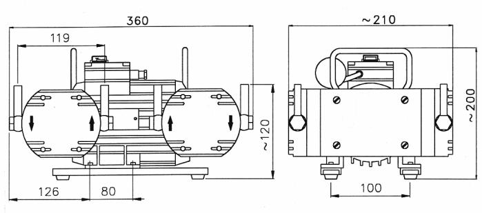 Diaphragm pump VM 20 Q