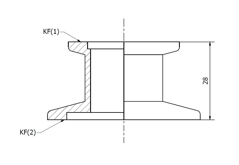 Redukce KF 25/50 N